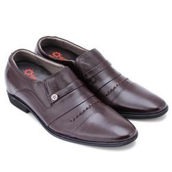 Giày tăng chiều cao Huy Hoàng  màu nâu EH7177