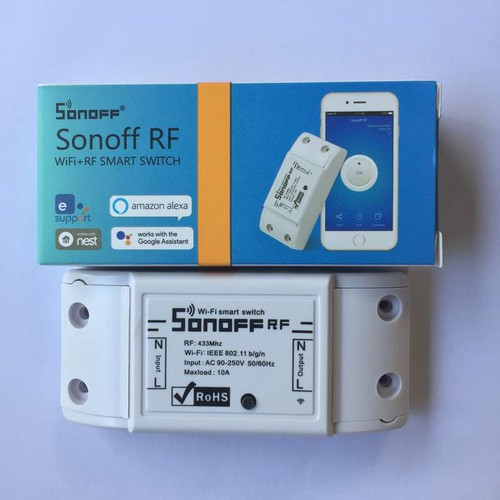 Công tắc Sonoff RF điều khiển bằng điện thoạiqua wifi remote RF 433Mhz