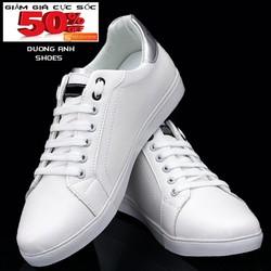 giày sneaker nam độn ẩn -trắng- mã GDA12