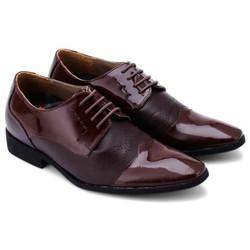 Giày tăng chiều cao Huy Hoàng màu nâu đất EH7181