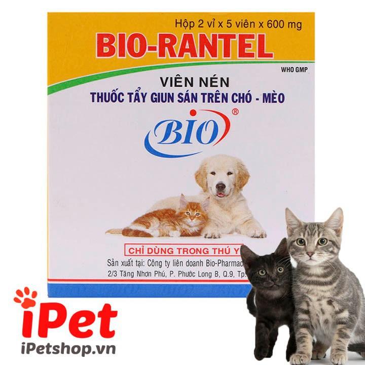 Viên Nén Tẩy Giun Sán Bio-Rantel Cho Thú Cưng Chó Mèo 1