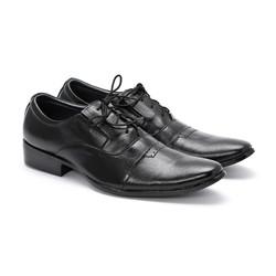 Giày tây nam Huy Hoàng da bò màu đen EH7103