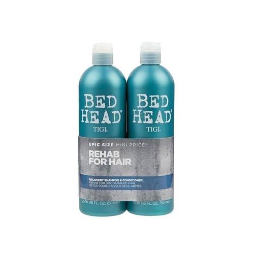 Cặp dầu gội xả TIGI màu xanh phục hồi tóc hư tổn - hàng nhập Mỹ