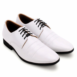 Giày nam Huy Hoàng cột dây đen màu trắng EH7751