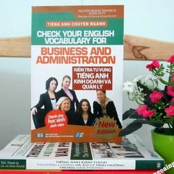 Sách Kiểm tra từ vựng tiếng Anh kinh doanh và quản lý