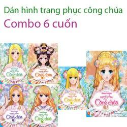 Sách - Dán hình trang phục công chúa combo 6 cuốn