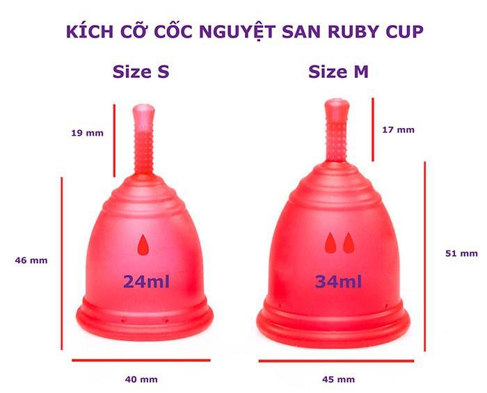 Cốc nguyệt san Ruby cup, Anh, màu Trong Size M, NK độc quyền 8