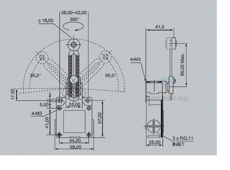 Công tắc hành trình CNTD CSA 031 vỏ kẽm loại tốt 3