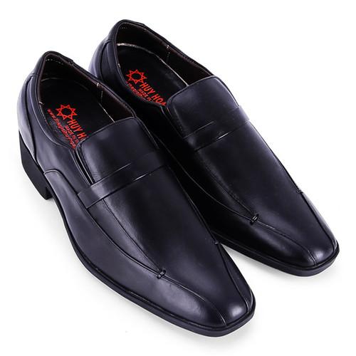 Giày tăng chiều cao Huy Hoàng  da bò màu đen EH7714