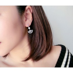 bông tai bạc 925 đá zircon