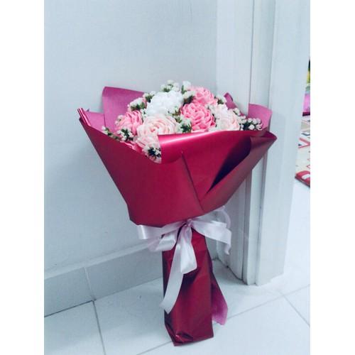 Hoa giấy nhún handmade- Hồng xoắn 20 bông
