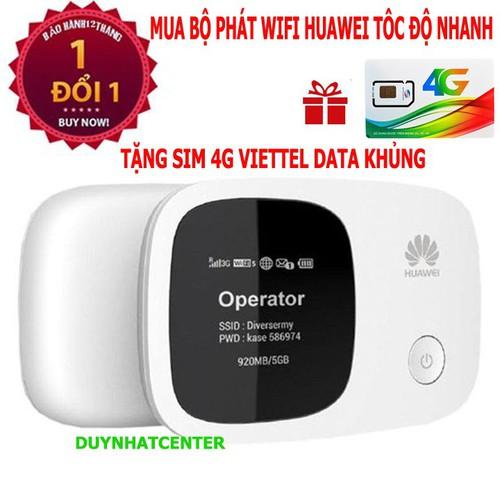 Bộ phát wifi 3G 4G hàng chuẩn Huawei nhập khẩu-tặng quà khủng