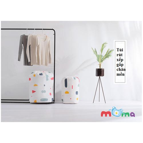 Túi Rút Dây Vải dù, Nhựa dày chống thấm nước đựng chăn, drap, màn