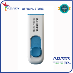 USB Adata C008 32GB 2.0 Trắng xanh