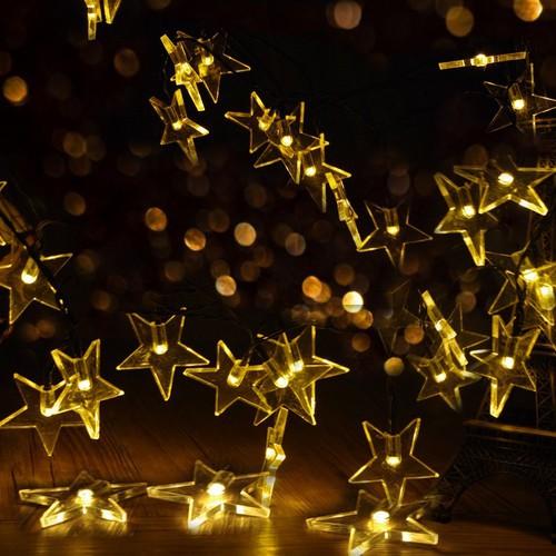 Dây Đèn Led Trang trí Ngôi sao Ánh sáng vàng 5m 50 ngôi sao