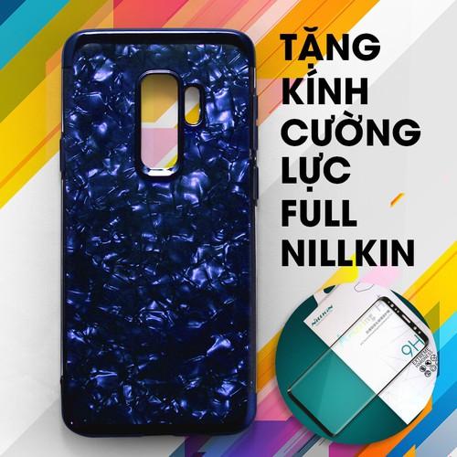 Ốp lưng dẻo Galaxy S9 Plus xanh + Kính cường lực