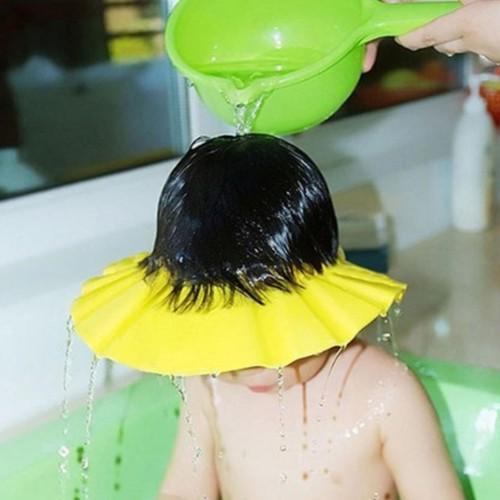 Mũ gội đầu, tắm an toàn cho bé chỉnh 4 cỡ HQ Plaza T111I 1 Vàng