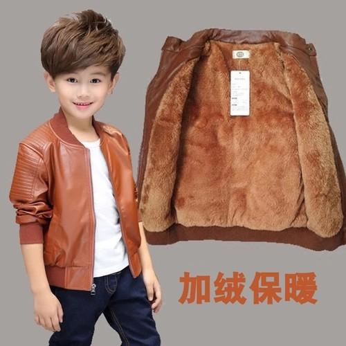 Áo khoác da nam trẻ em