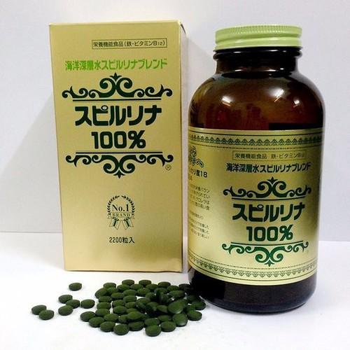 Tảo xoắn Spirulina hộp 2200 viên hàng Nhật