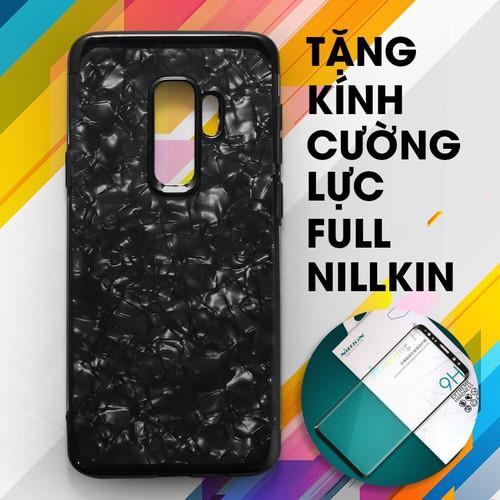 Ốp lưng dẻo Galaxy S9 Plus đen + Kính cường lực