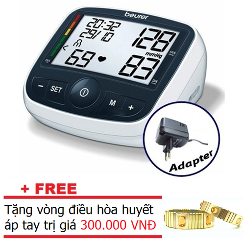 Máy đo huyết áp bắp tay Beurer BM40 bao gồm bộ đổi nguồn