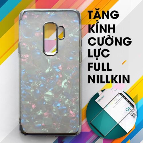 Ốp lưng dẻo Galaxy S9 Plus trắng + Kính cường lực