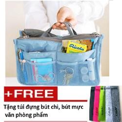 Túi đựng đồ cá nhân du lịch tiện ích TL8120 xanh nhạt Túi đựng bút