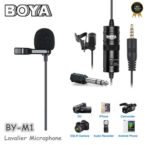 Micro cài áo cho máy ảnh và điện thoại Boya BY-M1