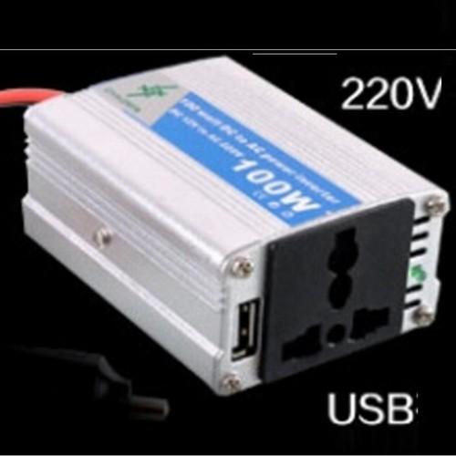 Bộ chuyển đổi nguồn điện 12V - 220V 100W HQ PLaza T026I