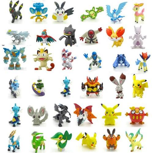 Bộ44 tượng thú cmon toys pokemon go cao-3cm+rubiđồ chơi sáng tạo