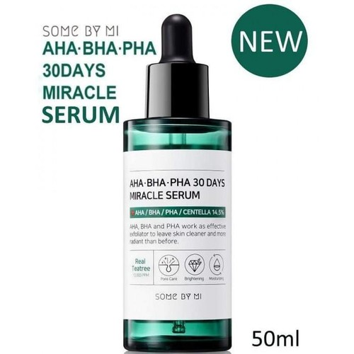 Serum trị mụn sáng mịn da AHA BHA PHA 30 Days SOME BY MI Miracle 50ml