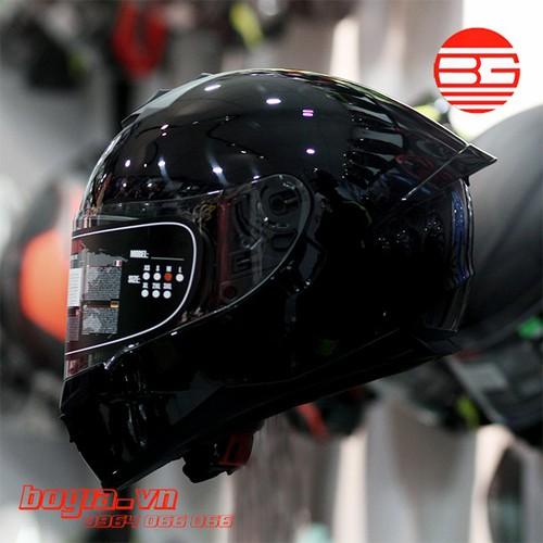 Mũ bảo hiểm Y OHE 967 plus đen bóng - TẶNG GĂNG TAY