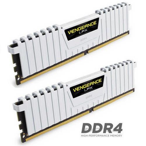 RAM Corsair 16GB DDR4 Bus 2666 C16 Vengeance LPX - WHITE