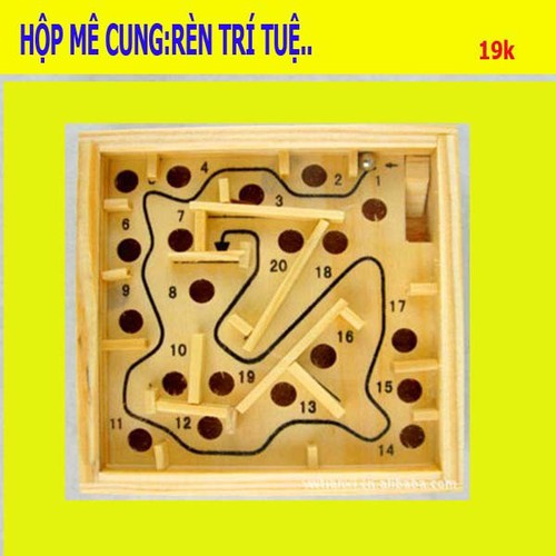 Hộp gỗ đồ chơi lăn bi mê cung - 4627157 , 13934429 , 15_13934429 , 49000 , Hop-go-do-choi-lan-bi-me-cung-15_13934429 , sendo.vn , Hộp gỗ đồ chơi lăn bi mê cung