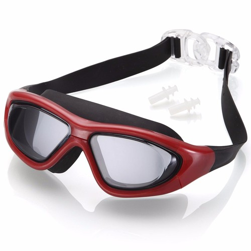 Kính bơi tầm nhìn rộng 180 độ, tráng gương, chống tia UV-Red