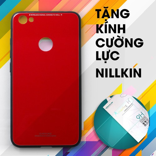 Ốp lưng cứng Redmi Note 5A Prime đỏ + Kính cường lực