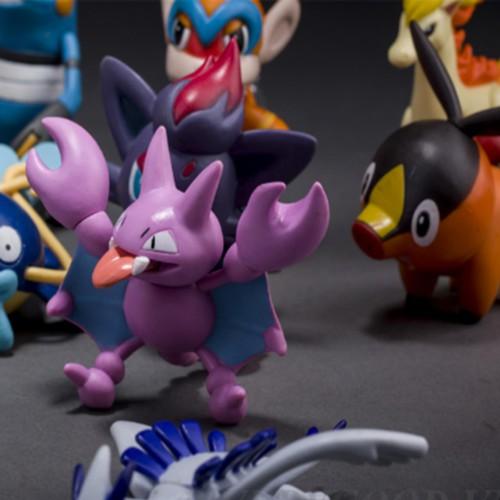 Bộ4 tượng thú cmon toys pokemon go cao-3cm 91i+rubiđồ chơi sáng tạo