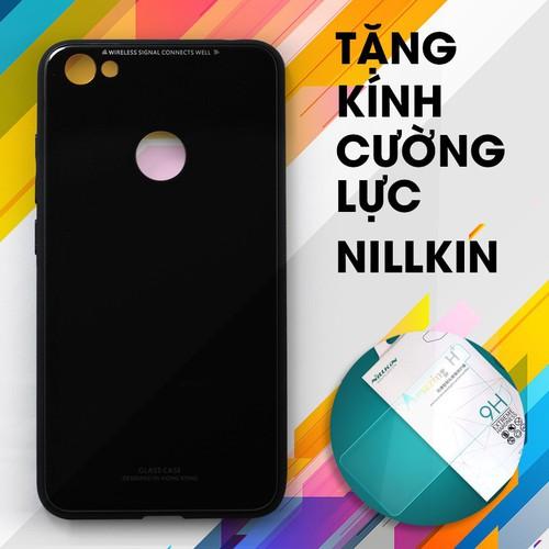 Ốp lưng cứng Redmi Note 5A Prime đen + Kính cường lực