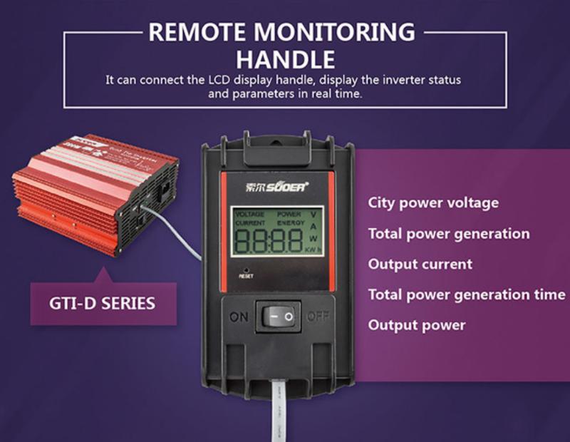 Bộ hòa lưới điện có đồng hồ hiển thị 1000W GRID TIE INVERTER 6