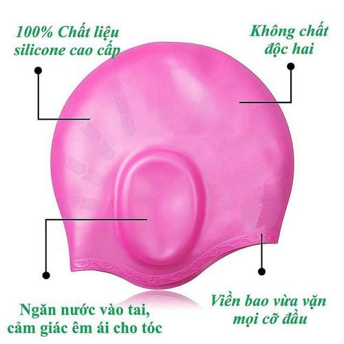 Nón bơi, Mũ bơi TRÙM TAI thời trang cao cấp-Pink - 5164229 , 11454296 , 15_11454296 , 119000 , Non-boi-Mu-boi-TRUM-TAI-thoi-trang-cao-cap-Pink-15_11454296 , sendo.vn , Nón bơi, Mũ bơi TRÙM TAI thời trang cao cấp-Pink