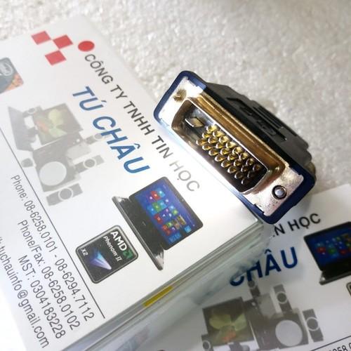 Đầu đổi DVI chuẩn kim 24-1 ra HDMI_Đực, đoạn ngắn