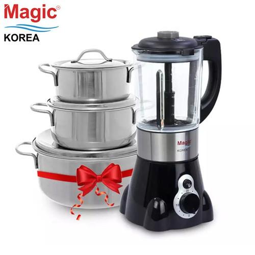 Máy xay nấu thực phẩm đa năng Magic Korea A94 + Tặng bộ 3 nồi inox - 7878584 , 11346222 , 15_11346222 , 2190000 , May-xay-nau-thuc-pham-da-nang-Magic-Korea-A94-Tang-bo-3-noi-inox-15_11346222 , sendo.vn , Máy xay nấu thực phẩm đa năng Magic Korea A94 + Tặng bộ 3 nồi inox