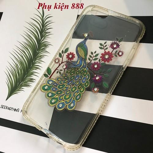 Ốp lưng silicon dẻo Iphone 5, 5s , 6 , 6s, 6plus hình con công