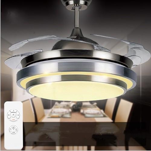 Worldmart quạt trần kiêm đèn led tiết kiệm điện  có remote điều khiển