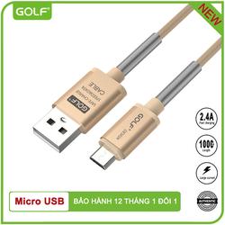 Cáp sạc nhanh Golf GC-40m chống đứt Micro