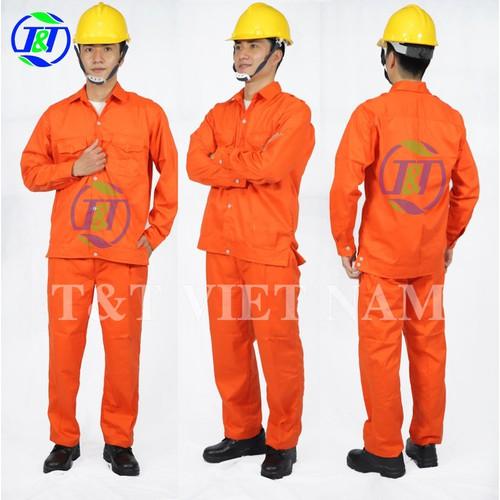 Quần áo bảo hộ lao động màu cam CS03