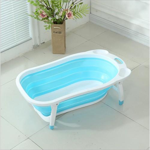 Worldmart bồn tắm xếp gọn cho bé yêu có khay đựng xà phòng