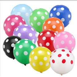50 bong bóng chấm bi nhiều màu trang trí sinh nhật