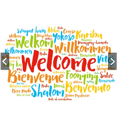 Decal trang trí tường chữ Tiếng Anh Welcome