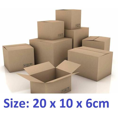 50 thùng carton hộp carton 20x10x6cm